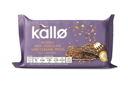 Kallo Belgian Milk Chocolate with Caramel Pieces Rice Cake Thins 80g