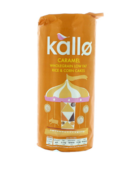 Kallo Caramel Wholegrain Low Fat Rice & Corn Cakes 147g