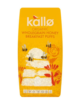 Kallo Cereal Organic Wholegrain Honey Breakfast Puffs 275g