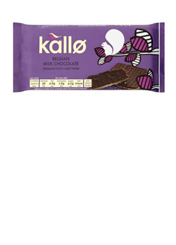 Kallo Milk Chocolate Organic Rice Cakes 90g