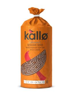Kallo Organic Sesame Seed Thick Rice Cakes 130g