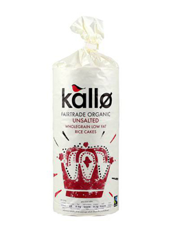 Kallo Organic Unsalted Thick Rice Cakes 130g