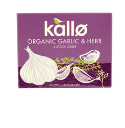 Kallo Stock Cubes Organic Garlic & Herb 66g