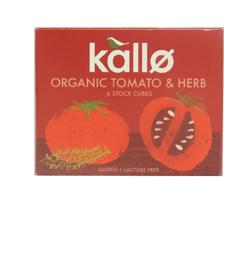 Kallo Stock Cubes Organic Tomato & Herb 66g