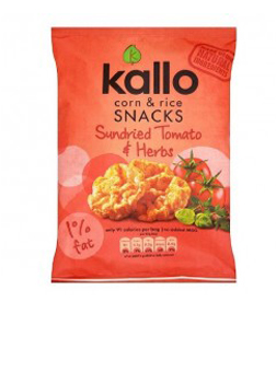 Kallo Sundried Tomato & Herbs Corn & Rice Snacks 25g