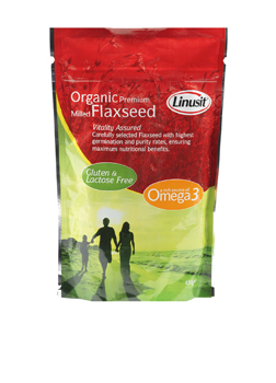 Linusit Milled Organic Golden Flaxseed 450g