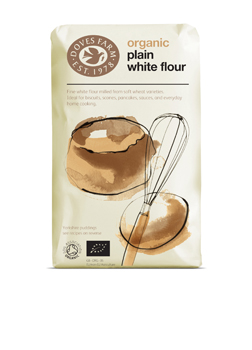 Doves Farm Organic Fine Plain White Flour 1 kilo