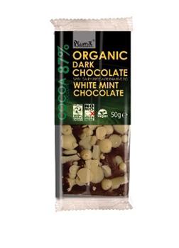 Plamil Organic Dark Chocolate with White Mint 50g