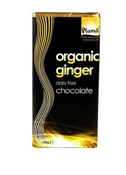 Plamil Organic Ginger Chocolate 100g