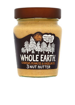 Whole Earth Cashew, Peanut & Hazelnut 3 Nut Butter 227g