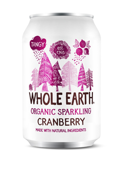 Whole Earth Organic Sparkling Cranberry Drink 330ml