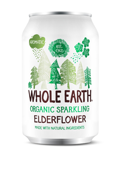 Whole Earth Organic Sparkling Elderflower Drink 330ml