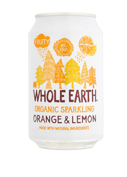 Whole Earth Organic Sparkling Orange & Lemon Drink 330ml