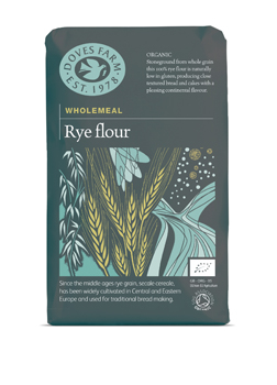 Doves Farm Organic Wholegrain Rye Flour 1 kilo