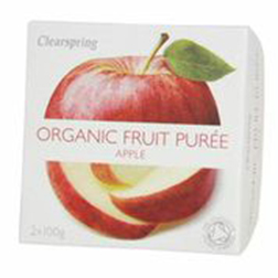 Clearspring Organic Fruit Puree Apple 2x100g