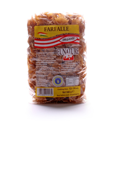 Eunature Organic Wholewheat Farfalle 500g