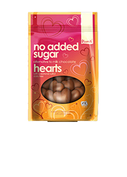 Plamil No Added Sugar Alternative to Milk Chocolate Hearts Bar 125g