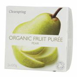 Clearspring Organic Fruit Puree Pear 2x100g
