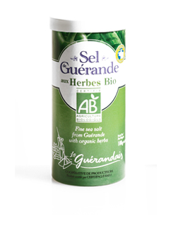 Le Guerande Salt Shaker Containing Fine Salt with Organic Herbs 85g