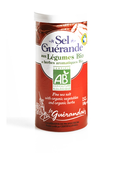 Le Guerande Salt Shaker Containing Fine Salt with Organic Vegetables and Herbs 90g